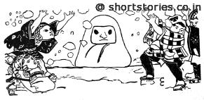 Daruma, the Snow-Image