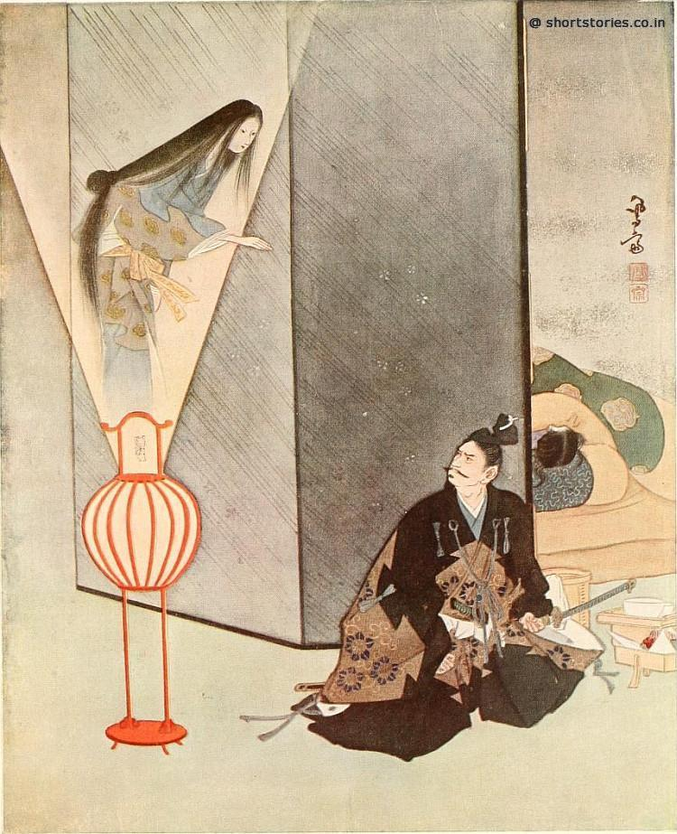 He glared fiercely at the apparition, and then, half unconsciously, turned for the samurai's only safeguard, his sword