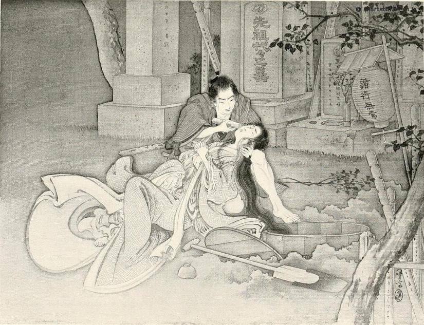 Kunizo, almost beside himself with happiness, did his utmost to minister to his beloved lady