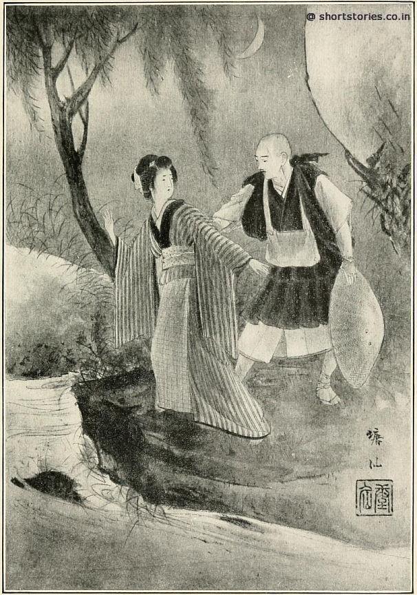 SHIRAGIKU WAS ABOUT TO DASH DOWN INTO THE RIVER