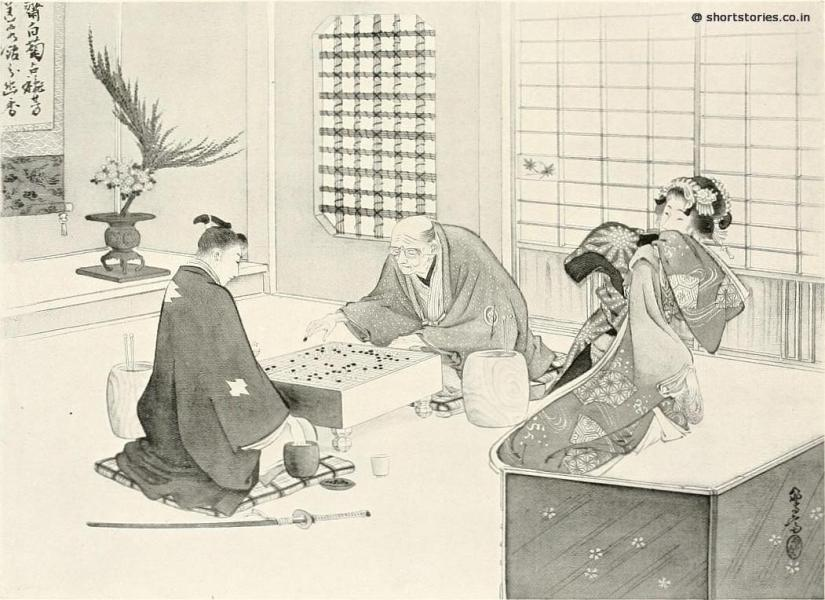 Tama's father was delighted when Hayashi proved to be an expert at go, and often asked him to come and spend the evening
