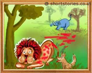 the-lion-and-the-foolish-donkey-shortstoriescoin-image1