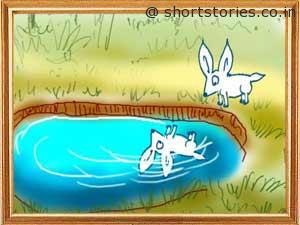 cunning-hare-witless-lion-panchatantra-tales-shortstoriescoin-image2