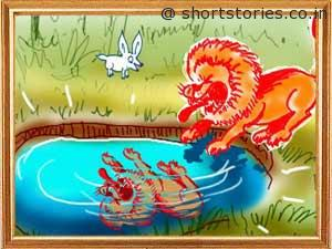cunning-hare-witless-lion-panchatantra-tales-shortstoriescoin-image4