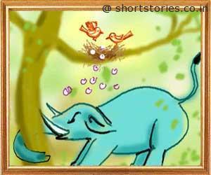 elephant-sparrow-panchatantra-tales-shortstoriescoin-image1