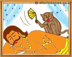 the-king-and-the-foolish-monkey-panchatantra-tales-image1