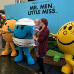 Spike and Mummy meeting Mr Men at Butlin's Just For Tots in Minehead