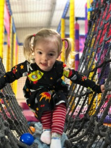 Spike playing at a soft play centre