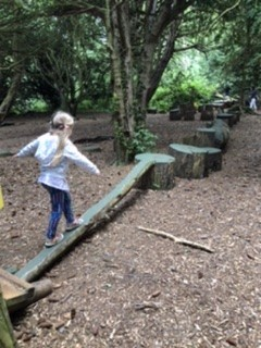 The Walking beams at Lowther Castle