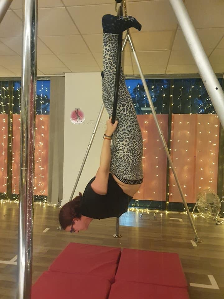 Birds nest Aerial Hoop at Inversion Pole Fitness in Lancaster