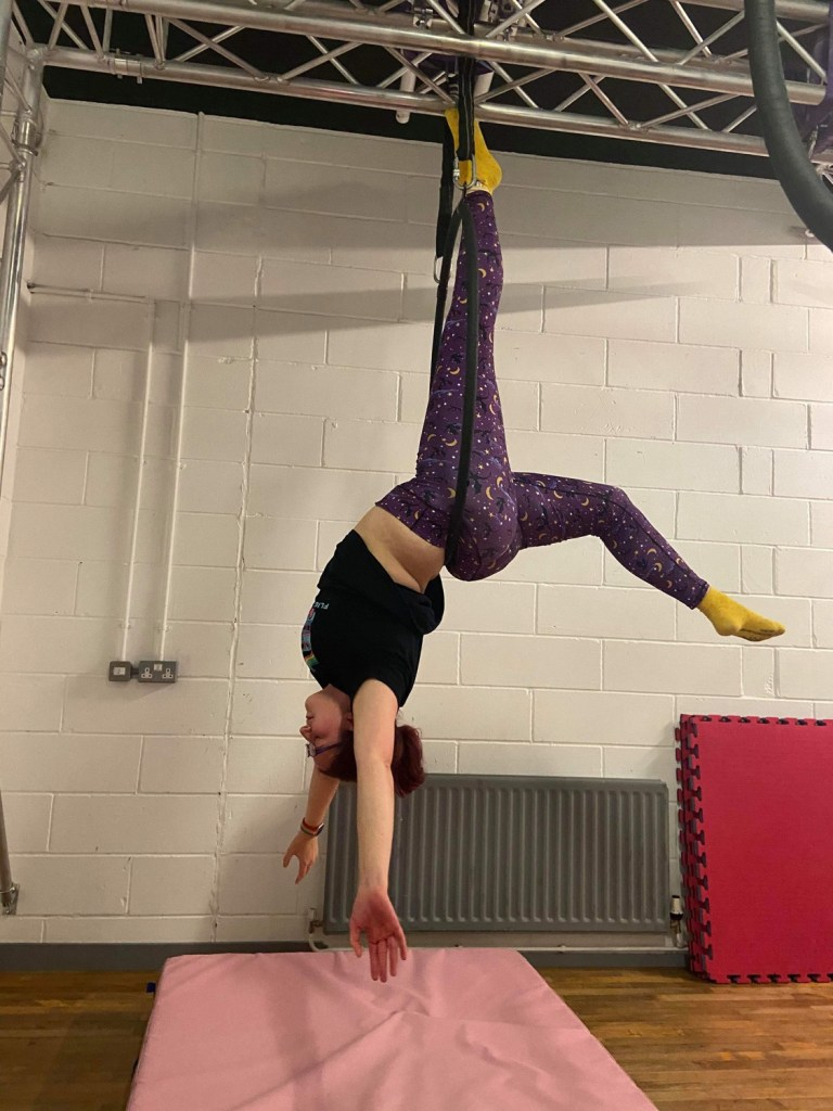 Half Back Balance at Cloud Aerial Arts in Manchester