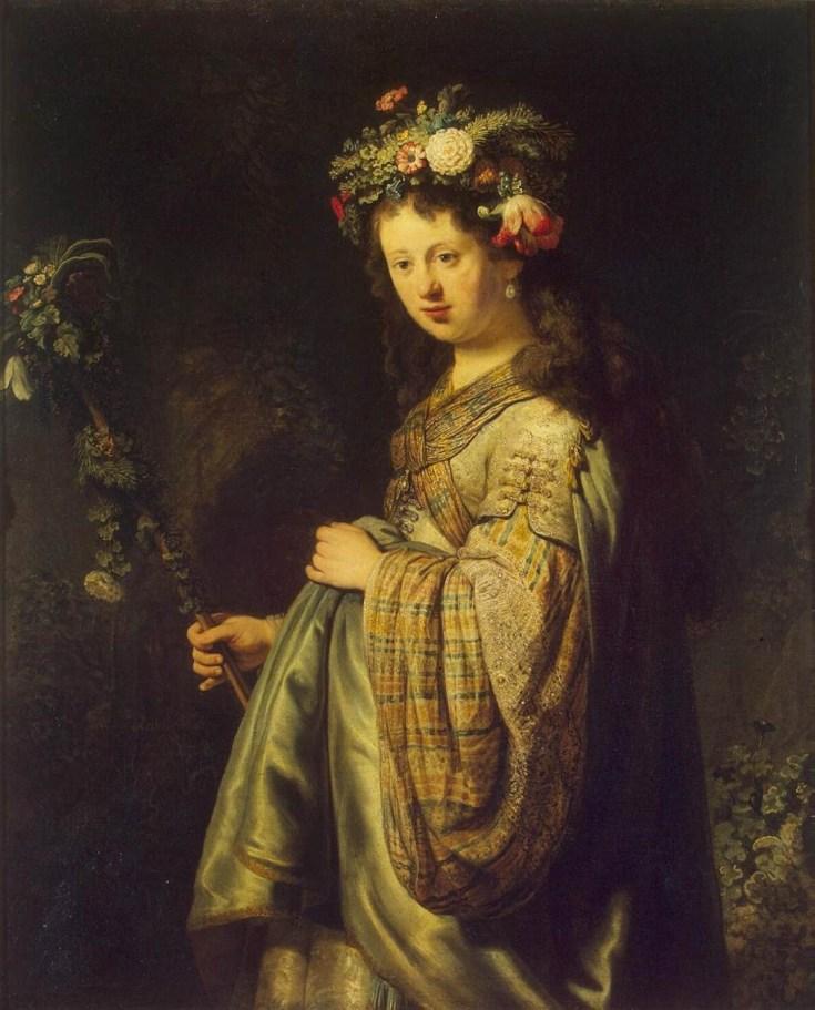 Rembrandt: Saskia as the Goddess Flora