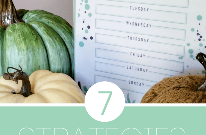 7 Strategies for Meal Planning