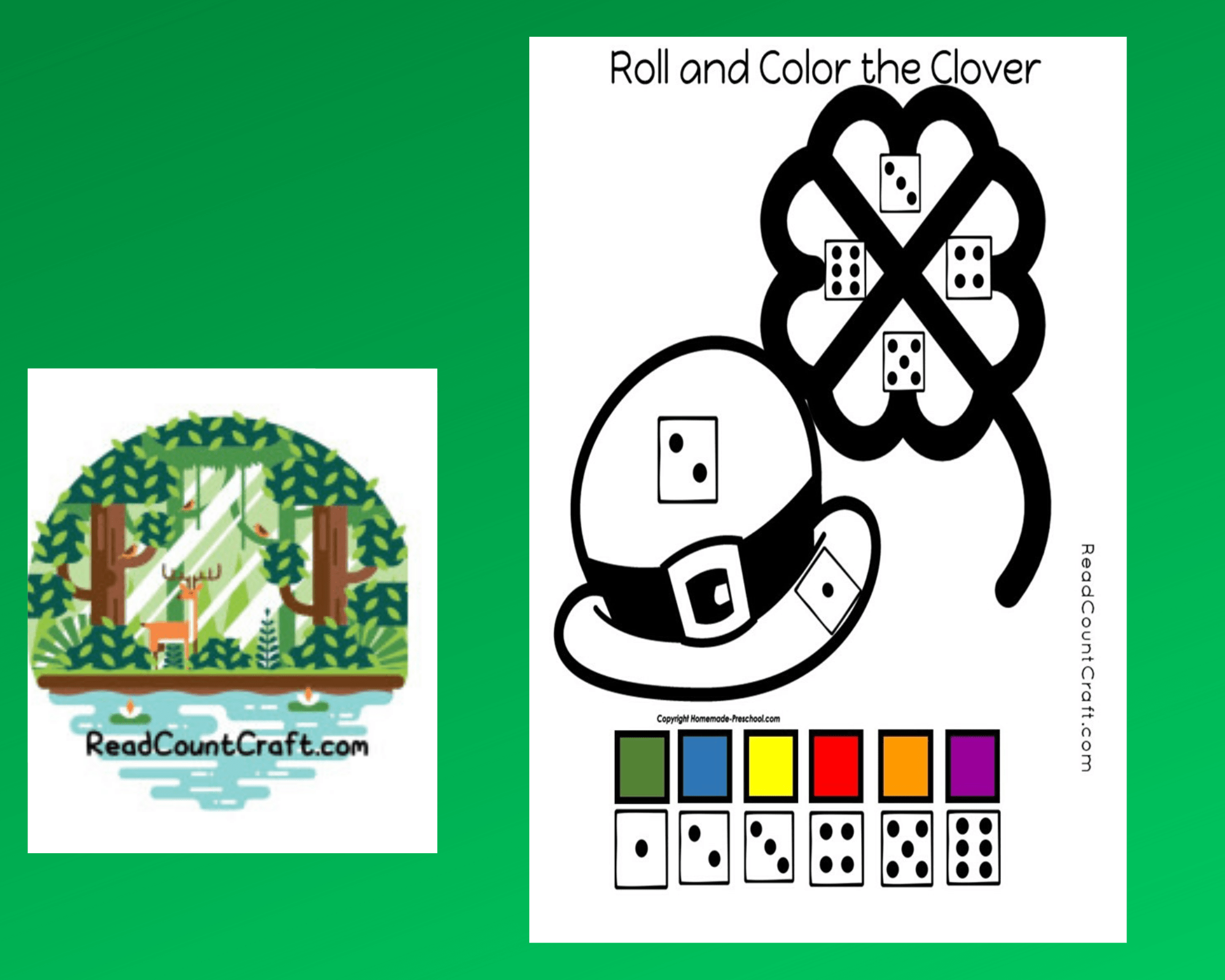 Roll And Color Preschool Math Game Think Differently