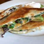 black bean & spinach quesadillas