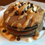 Triple Chocolate Peanut Butter Pancakes