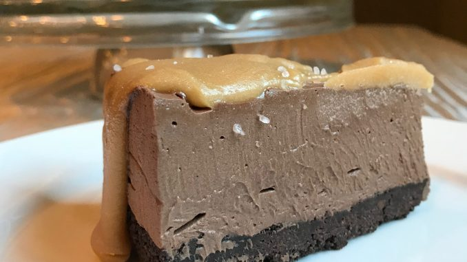 dark chocolate salted caramel cheesecake