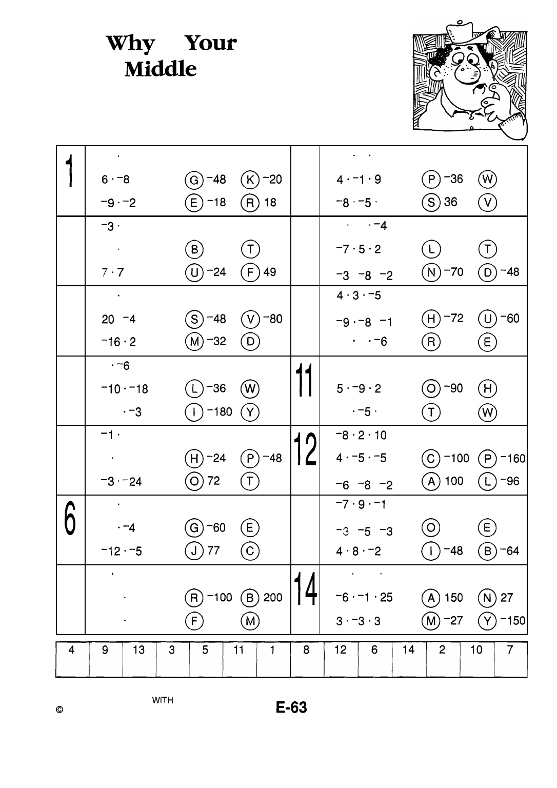 Middle School Math With Pizzazz Book E Answer Key