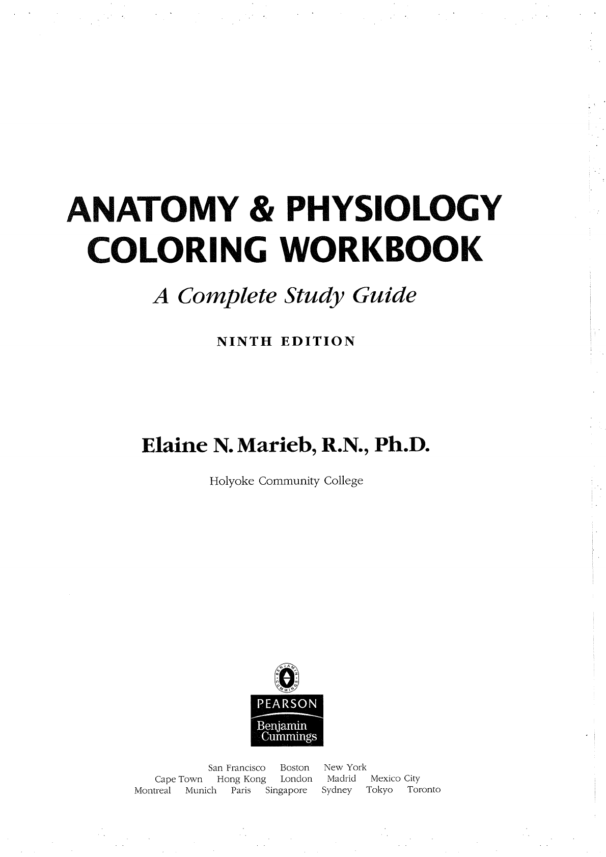 Anatomy And Physiology Coloring Workbook Chapter 7 Answer
