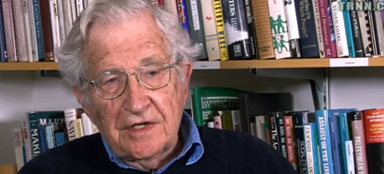 Prof. Noam Chomsky, linguist, philosopher, cognitive scientist and activist. (photo: Real News Network)