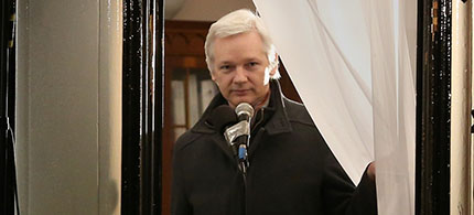 Julian Assange. (photo: Peter Macdiarmid/Getty Images)