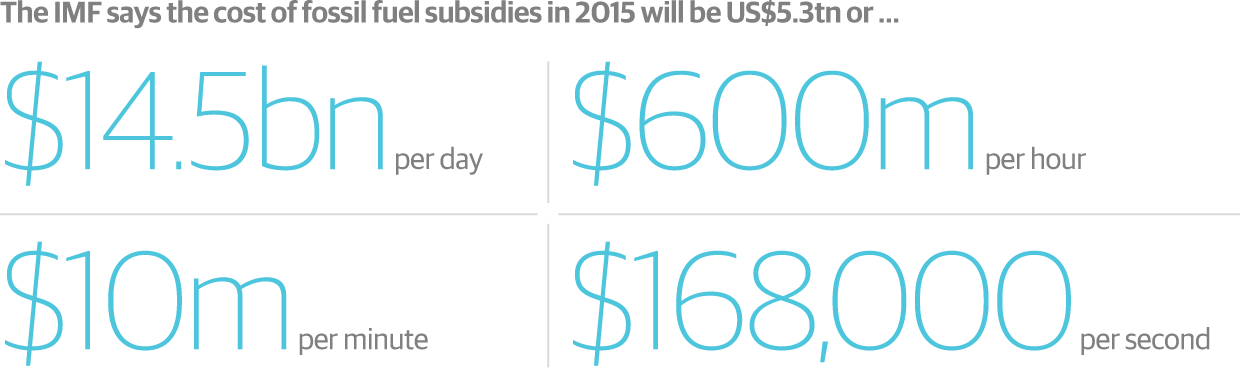 Data on fossil fuels and subsidies. (photo: IMF)