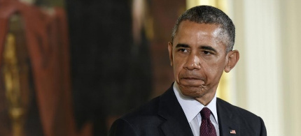 President Obama has come under fire for a series of recent trade-deal negotiations as critics worry about the impact on jobs and civil liberties. (photo: Susan Walsh/AP)