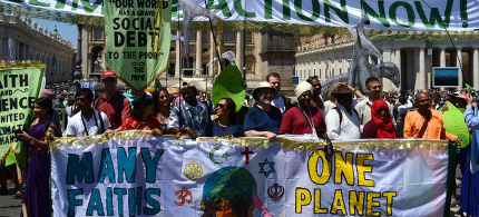 Photo from outside the climate conference at the Vatican. (photo: CIDSE)