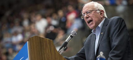 U.S. Senator Bernie Sanders speaks during a campaign rally in Madison, Wis. on July 1, 2015. (photo: Christopher Dilts/Bloomberg/Getty)