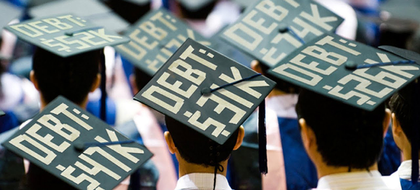 Student loan debt protest. (photo: YouTube)