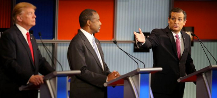 The fifth GOP primary debate takes place Tuesday evening in Las Vegas. (photo: Scott Olson/Getty)