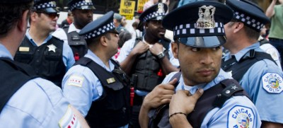 Chicago police officers. (photo: AFP/Getty)