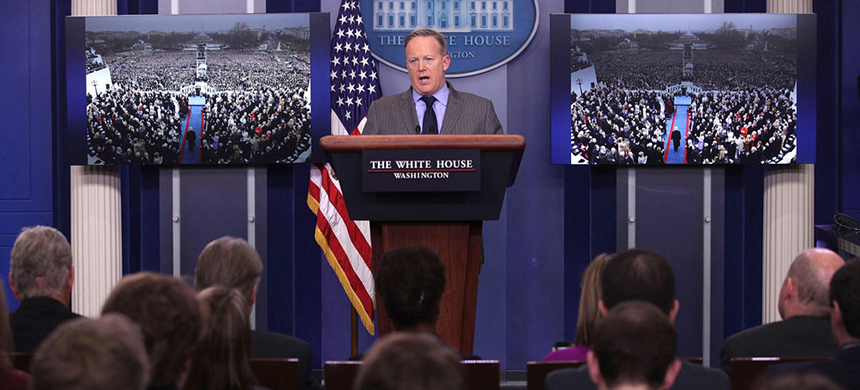 Sean Spicer. (photo: Alex Wong/Getty Images)