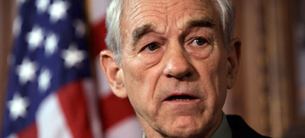 Ron Paul is more than just anti-war, he's the anti-Civil-Rights-Act Republican. (photo: Charlie Neibergall/AP)