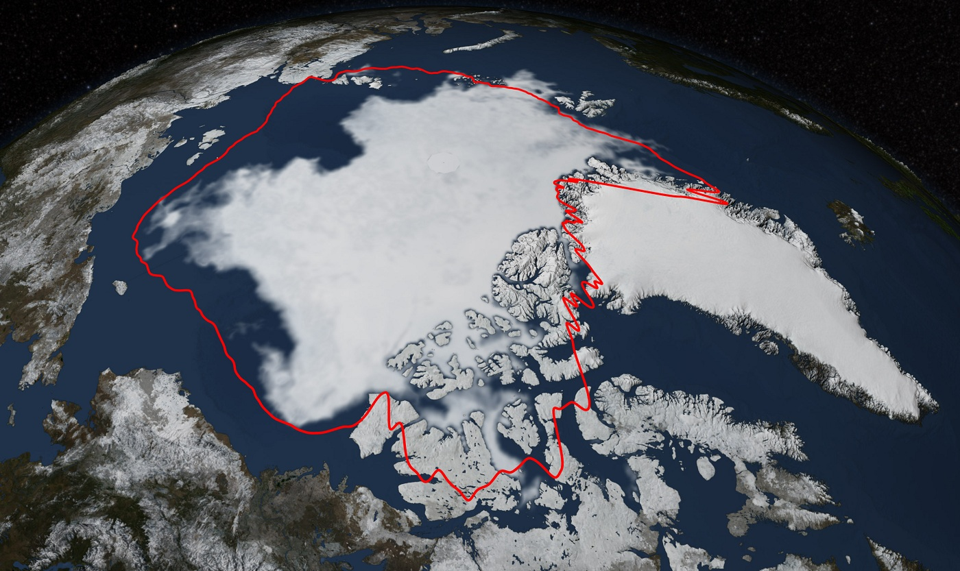 Data covering the decrease in the Arctic ice caps. (photo: Commondreams.org)