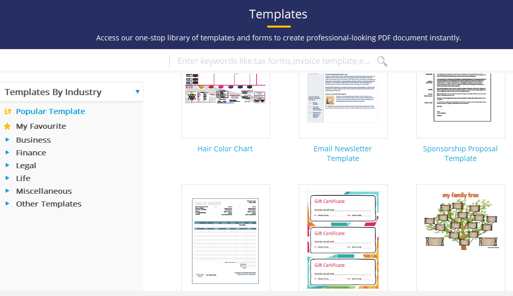 PDFelement Templates