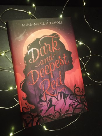 photo of Dark and Deepest Red on fairy lights