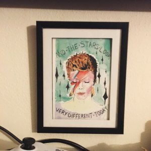 Let's Get Galactic Bowie print