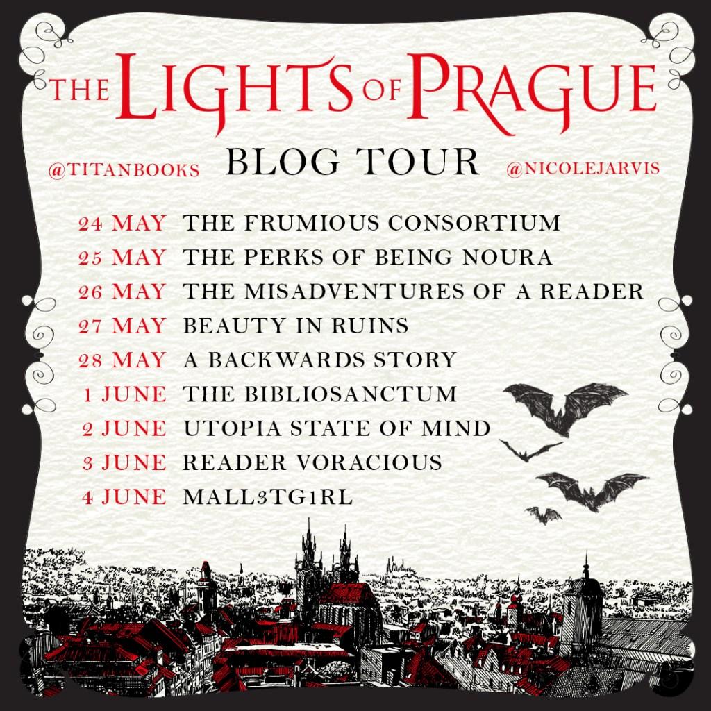 The Lights of Prague blog tour stops