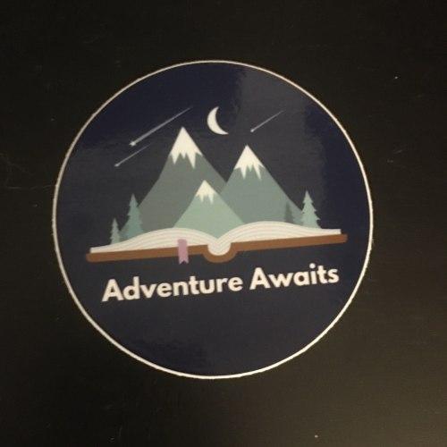 Adventure Awaits reader voracious sticker