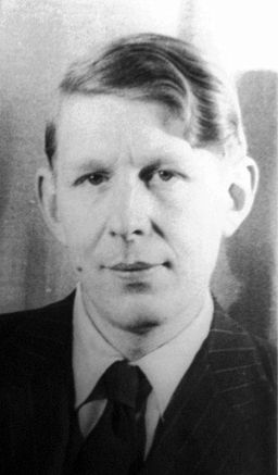 """W. H. Auden, author of """"Musee Des Beaux Arts."""" Photo by Carl Van Vechten, 1939. Library of Congress collection."""