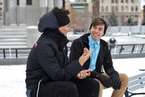 Two guys sit down on a winter's day to talk about great literature.