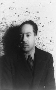B & W Head Shot of Langston Hughes, 1936. By Carl Van Vechten.
