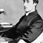 B & White Photograph of Gerard Manley Hopkins. 1844-1889.