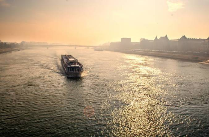Ferry crossing from Brooklyn, as in Whitman's poem.