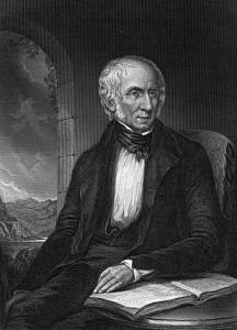 Engraving of painting of Wordsworth by Margaret Gillies.