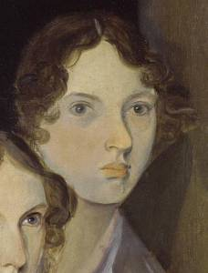 Emily Bronte from portrait by her brother Branwell.