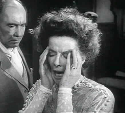"""Screenshot from Trailer for 1962 film of O'Neill's """"Long Day's Journey into Night."""" Katherine Hepburn and Ralph Richardson."""