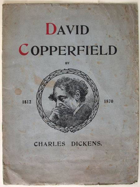Dickens's David Copperfield: picture of the worn cover of a very old edition.