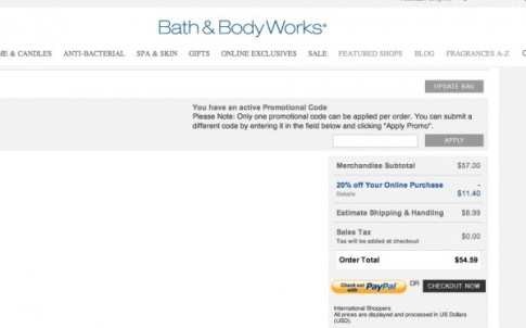 Bath Body Works Coupons.com Promo 2